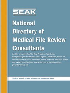 Medical File Review Consultants Directory
