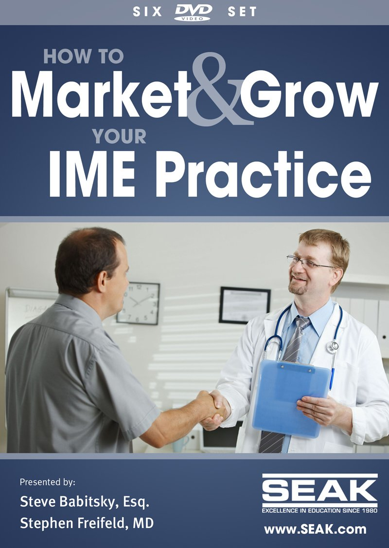Marketing & Growing Your IME Practice; 10-DVD Set