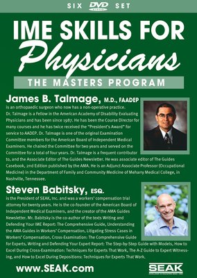 IME Skills for Physicians: The Master's Program-6 DVD Set